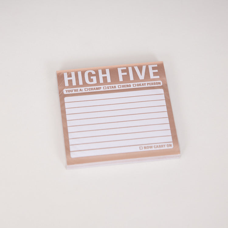 Knock Knock High Five Metallic Sticky Notes