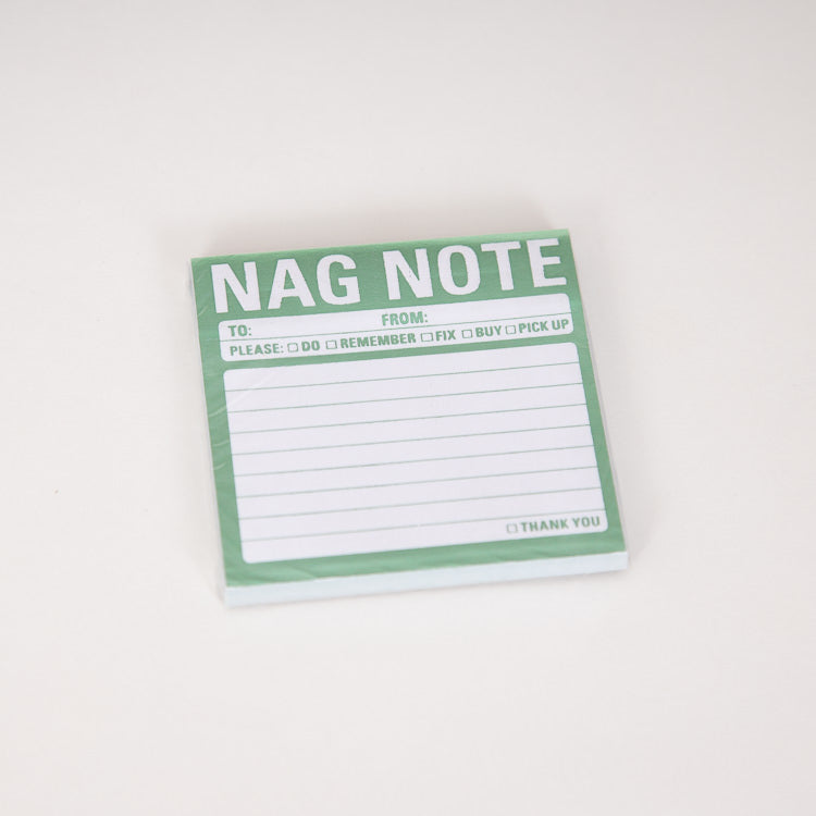 Knock Knock Nag Note Metallic Sticky Notes