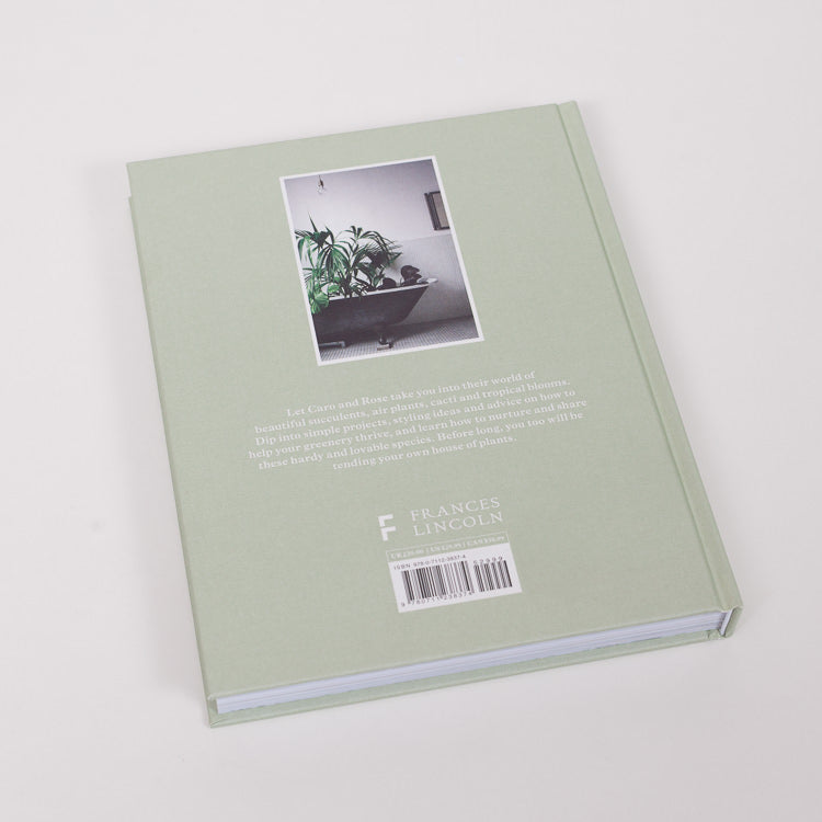 Product shot of back cover of the House of Plants Book