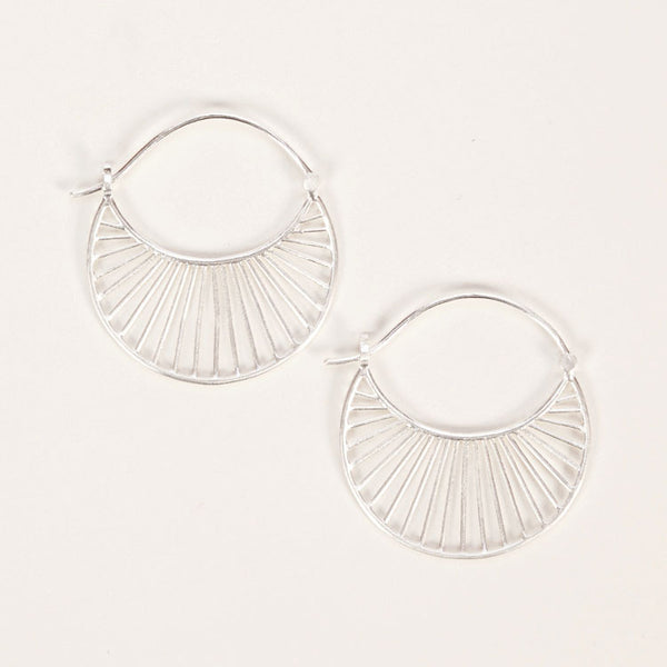 Product shot of Pernille Corydon Large Daylight Silver Earrings