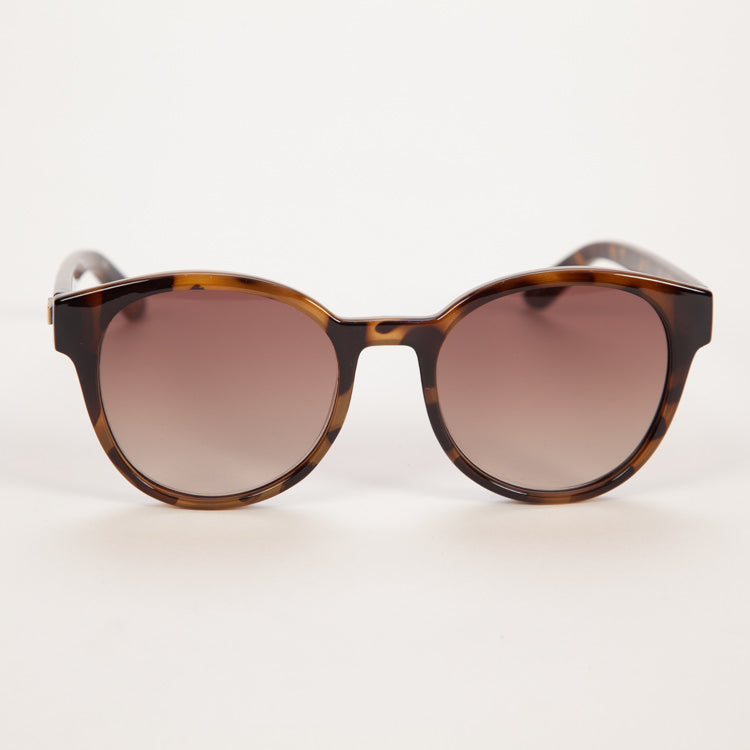 Product shot of Le Specs Paramount Milky Tort Sunglasses