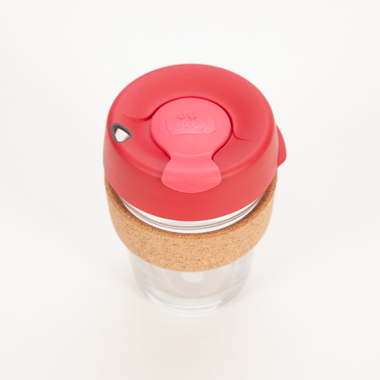 Product shot, from above: KeepCup Brew Cork Edition Thermal 12oz / 340ml Cup