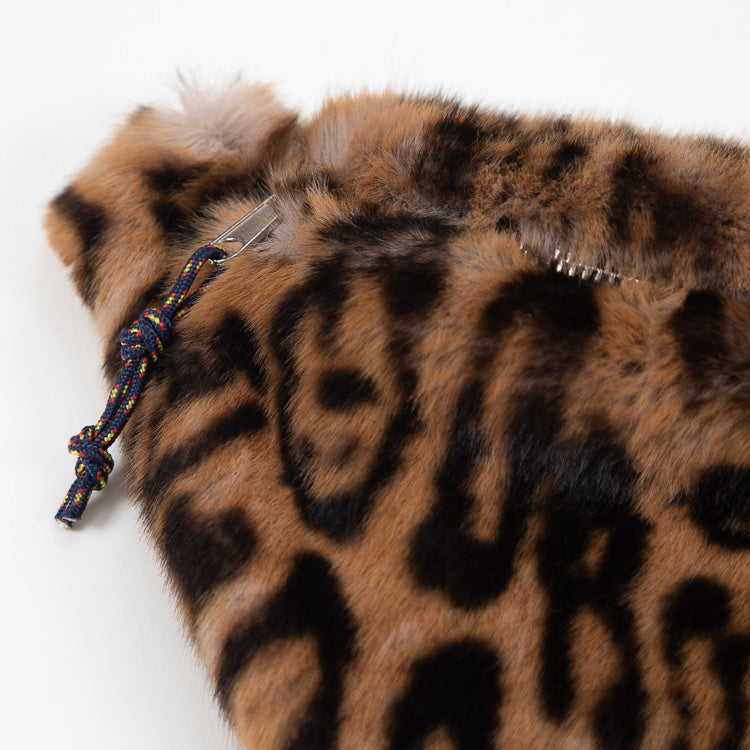 Bellerose Salima Leopard Faux Fur Bum Bag - detail shot