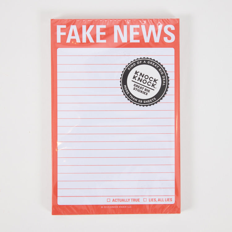 Knock Knock Fake News Sticky Notes