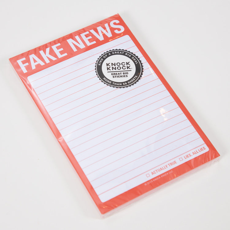 Knock Knock Fake News Sticky Notes - front cover