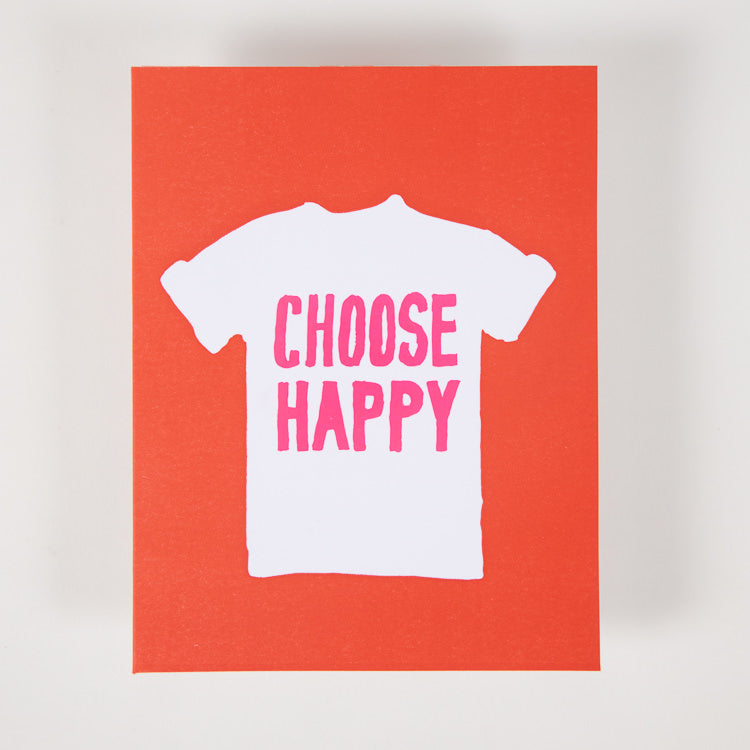Ashkahn 'Choose Happy' Greetings Card