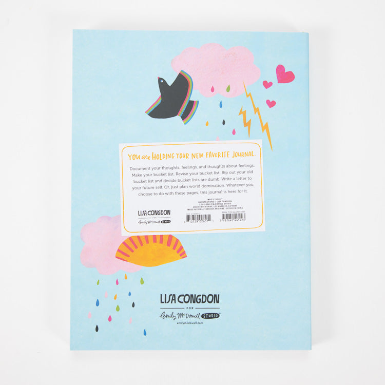 Emily McDowell & Friends, Eyes Forward Heart Open Journal by Lisa Congdon - back cover