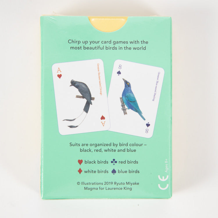 Birds Playing Cards - back cover