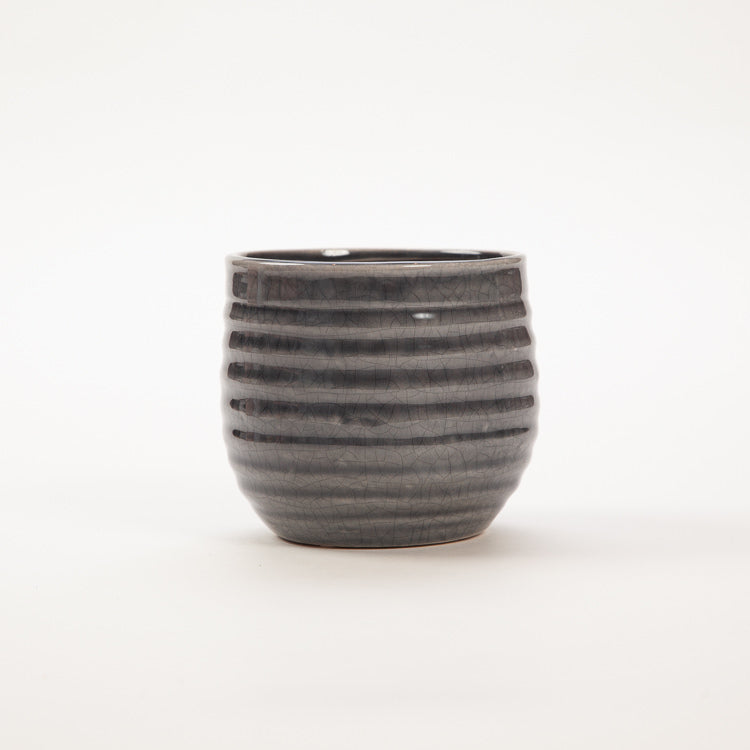 Bloomingville Grey Stoneware Flower Pot