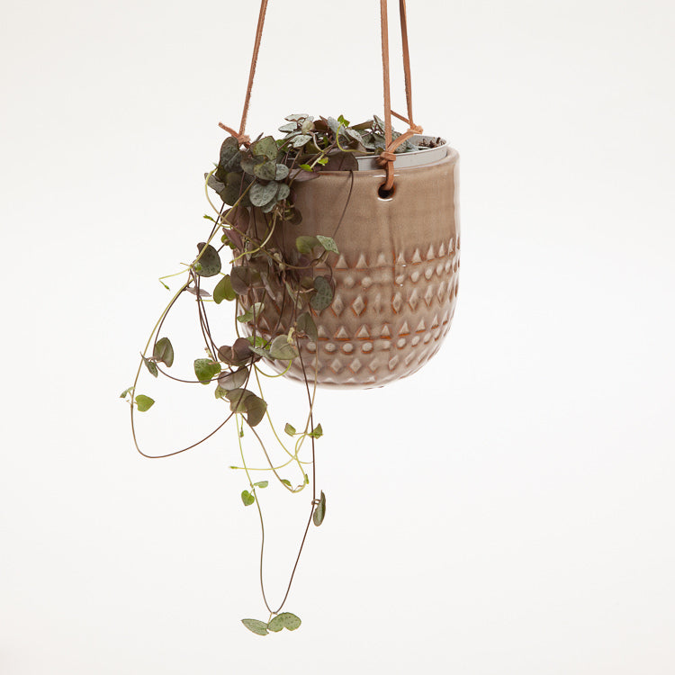 Bloomingville Nature Stoneware Hanging Flower pot