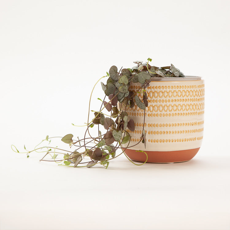 Bloomingville White Stoneware Flower Pot