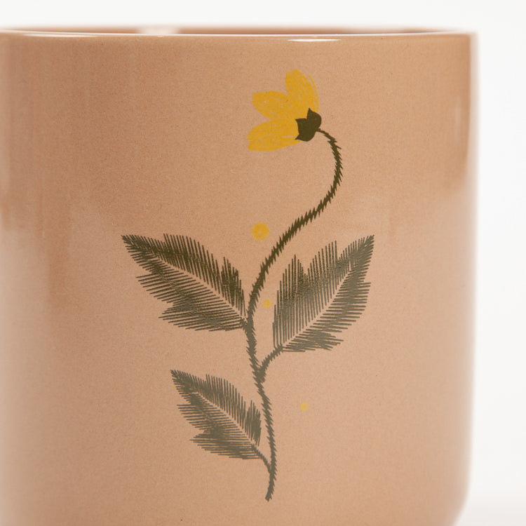 Bloomingville Brown Stoneware Flower Pot