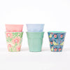 Product shot: Set of 5 RICE DK Melamine Cups on a white background