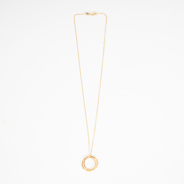 Rachel Jackson Punk Rings Gold Plated Necklace