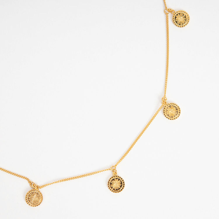 Rachel Jackson Eternal Sun Gold Coin Choker Necklace