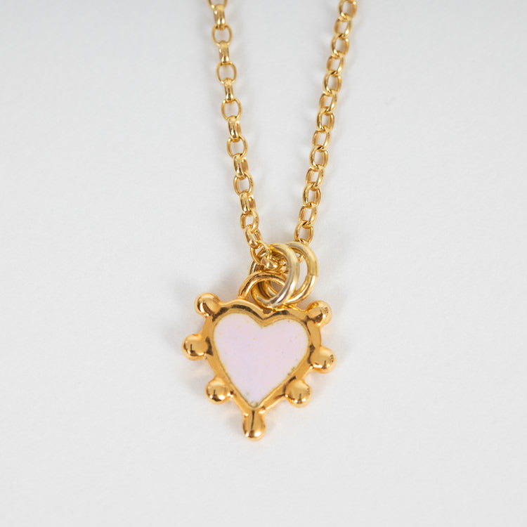 Sophie Harley Pink Boho Heart Necklace