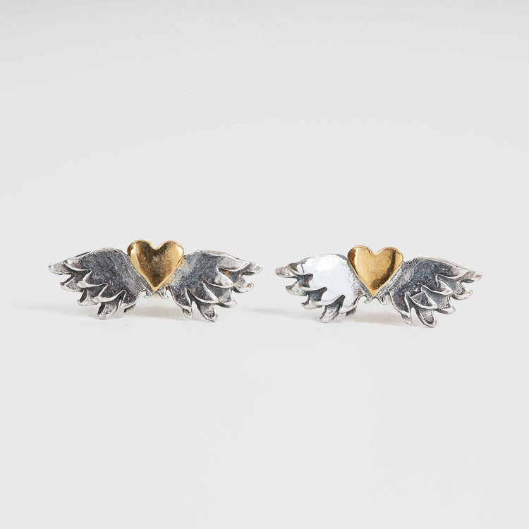 Sophie Harley Classic Winged Heart Earrings