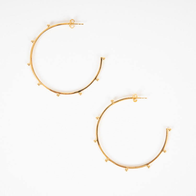 Rachel Jackson Oversized Punk Gold Hoop Earrings