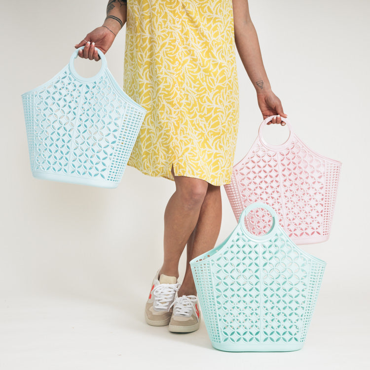 Sun Jellies Blue Atomic Tote Bag