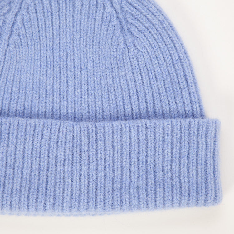 Product shot detail of the Le Bonnet Light Blue Sky Beanie Hat