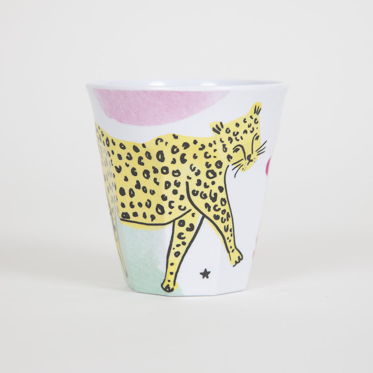 RICE Medium Leopard Print Melamine Cup