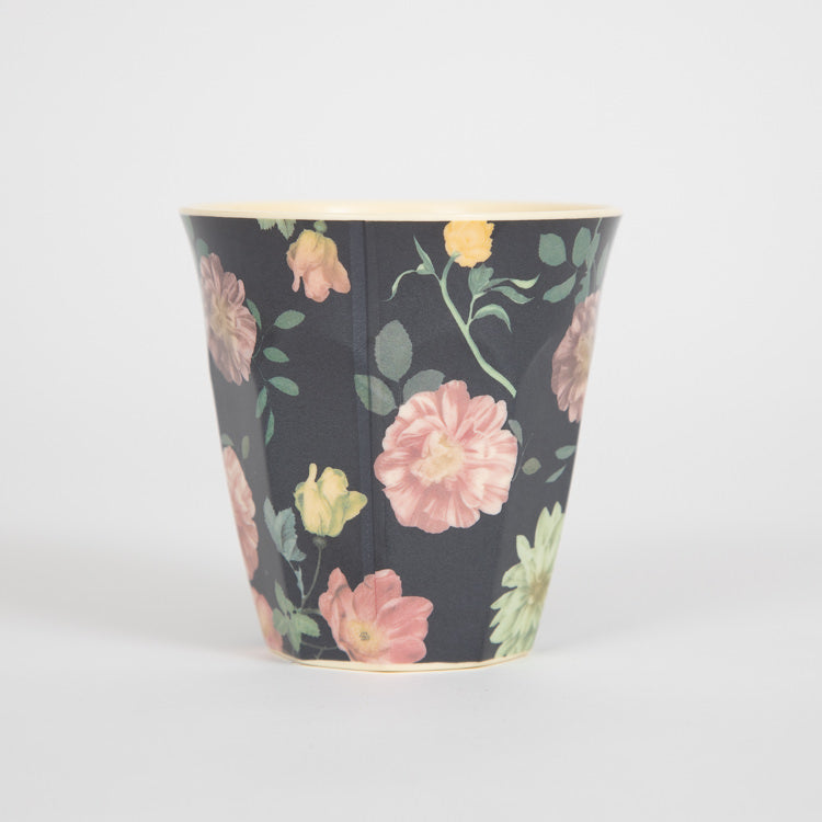 RICE Medium Dark Rose Print Melamine Cup