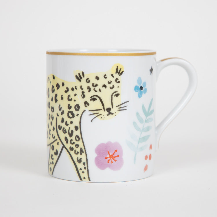 RICE Special Edition 350ml Porcelain Mug With Leopard Print