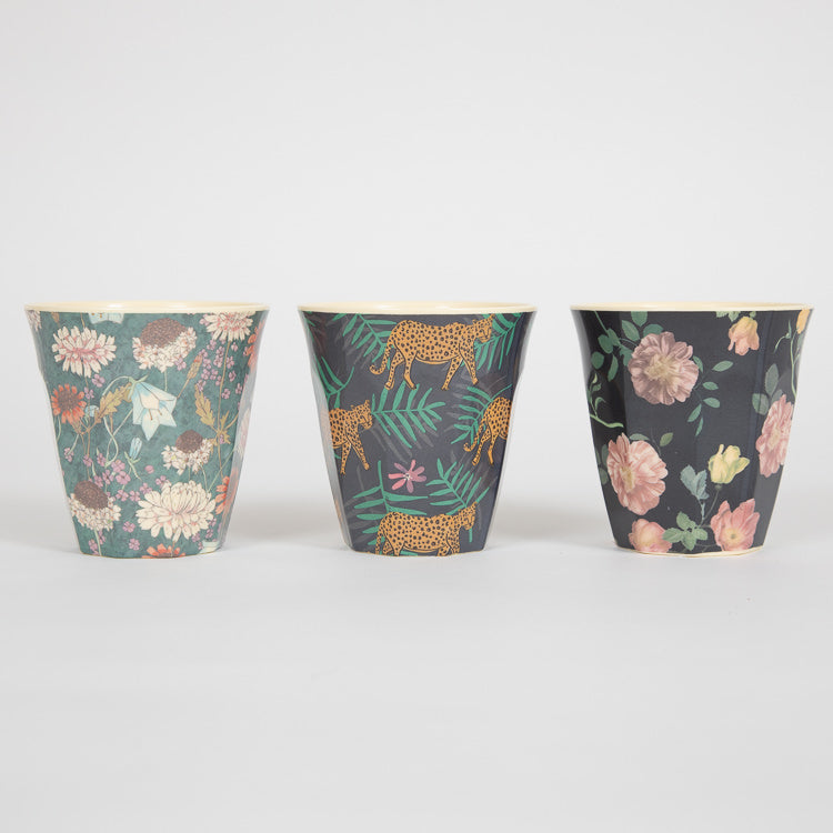 RICE Medium Dark Rose Print Melamine Cup - other options