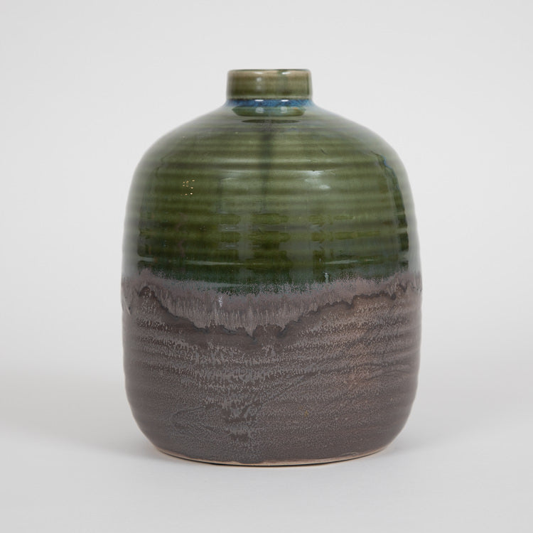 Bloomingville Green Glazed Stoneware Vase