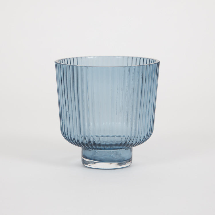 Bloomingville Blue Glass Flowerpot