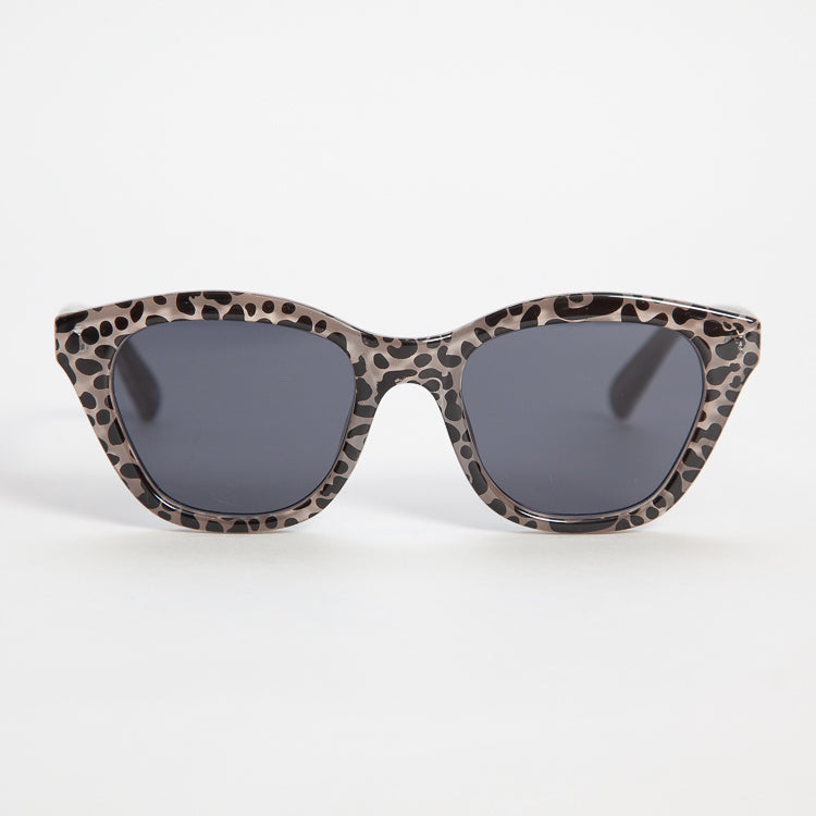 Le Specs Wannabae Sand Leopard Sunglasses