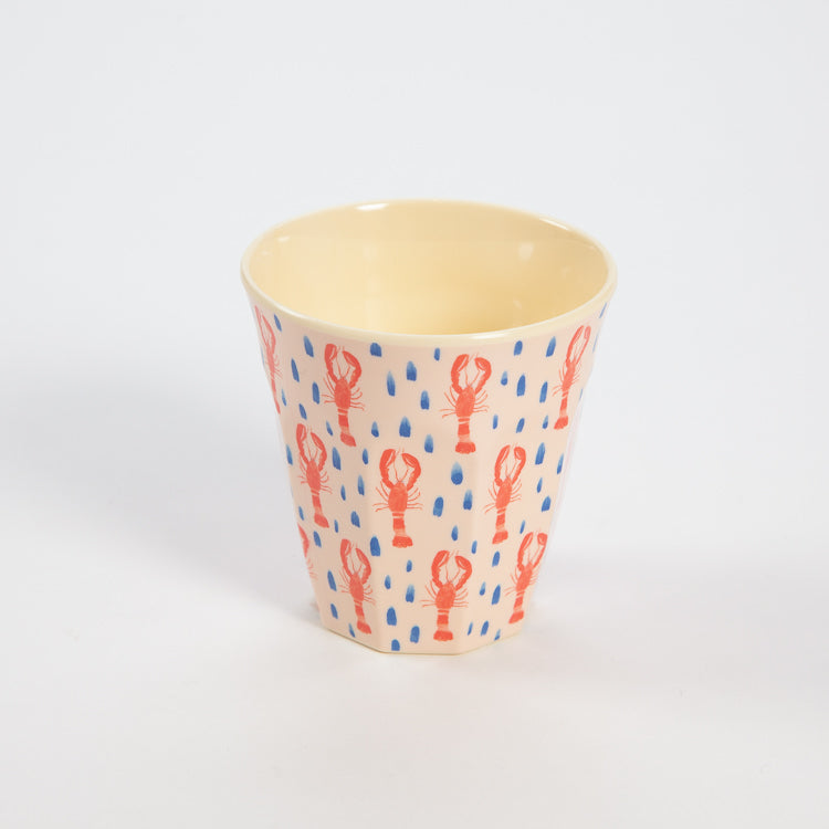 Rice Medium Lobster Print Cup