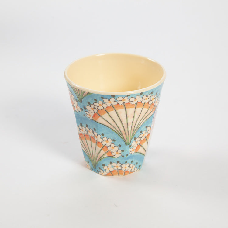 Rice Medium Flower Fan Print Cup
