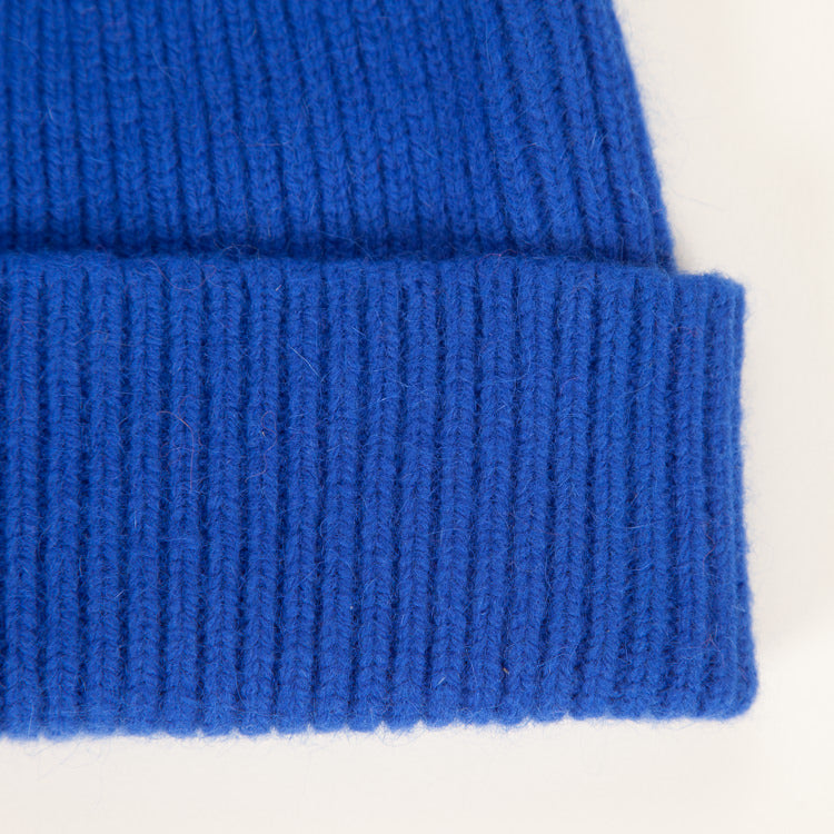 Detail shot: Le Bonnet Royal Azure Beanie Hat