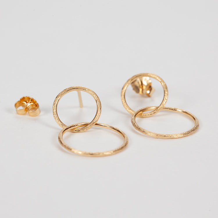 Pernille Corydon Double Circle Gold Earrings