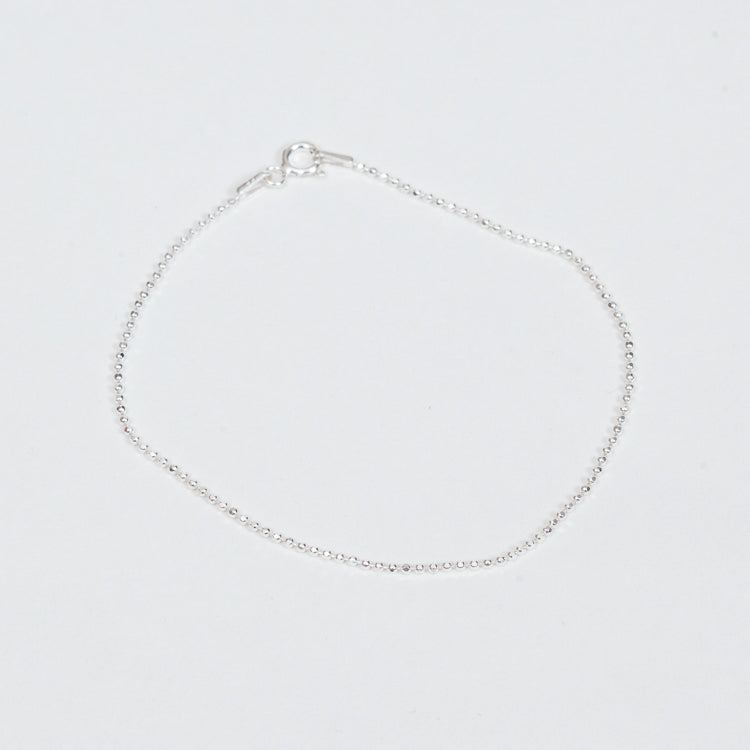 Product shot of the Pernille Corydon Silver Facet Plain Bracelet
