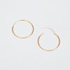 Product shot of the Pernille Corydon Midi Plain Gold Hoop
