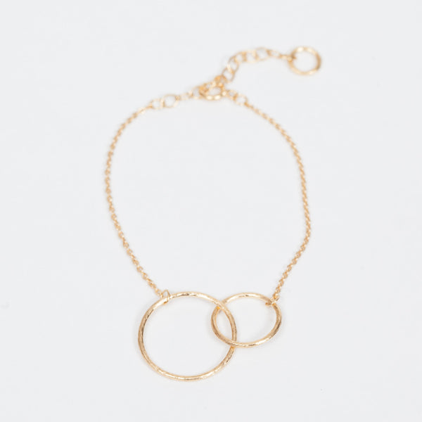 Product shot of Pernille Corydon Double Circle Gold Bracelet