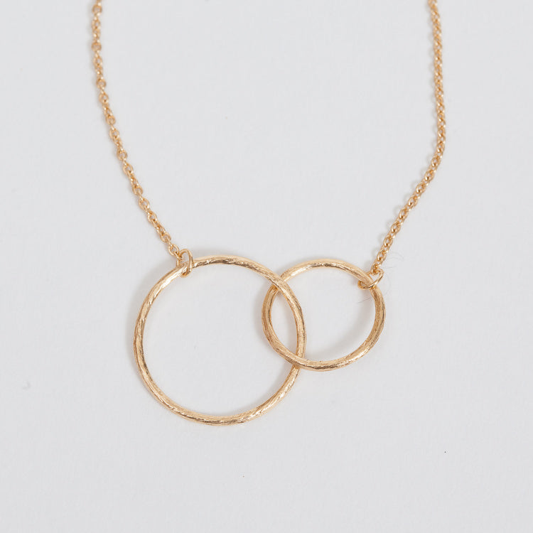 Detail shot of the Pernille Corydon Double Circle Gold Bracelet