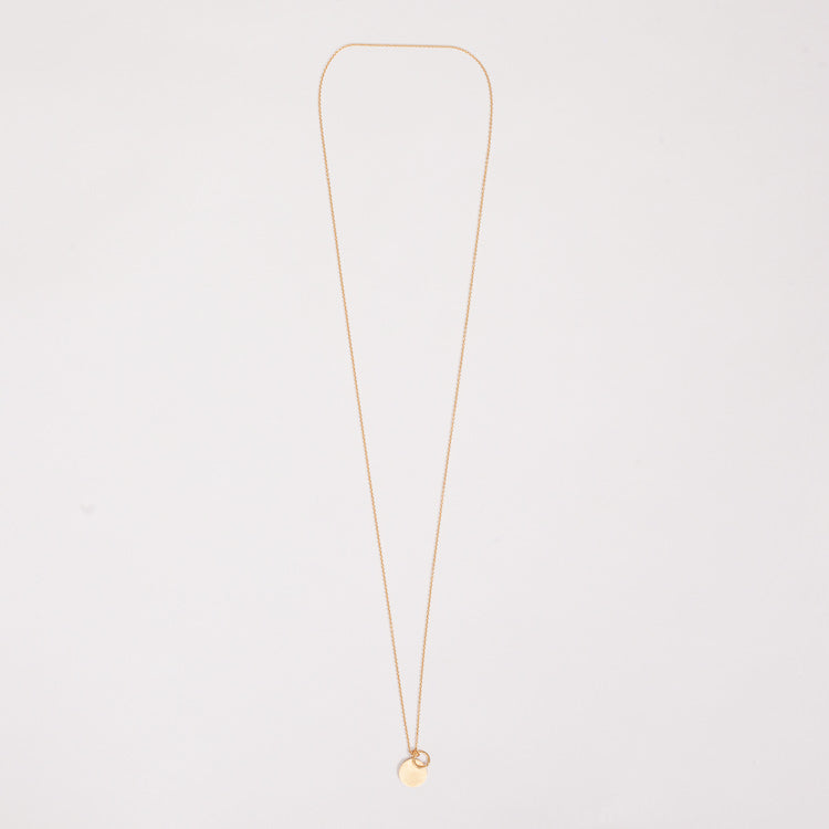 Product shot of the Pernille Corydon Gold Coin & Circle Necklace