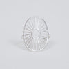 Product shot of the Pernille Corydon Silver Daylight Adjustable Ring