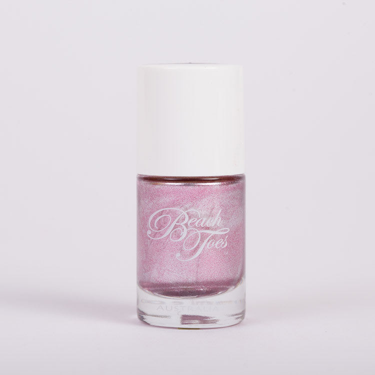 Beach Toes Mermaid's Tail Metallic Pink Nail Polish