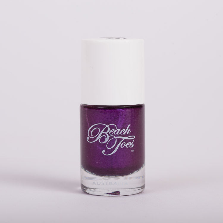 Beach Toes Pure Indulgence Dark Purple Shimmer Nail Polish