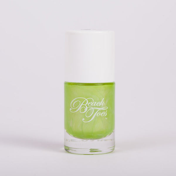 Beach Toes Summer Envy Bright Green Pearl Nail Polish
