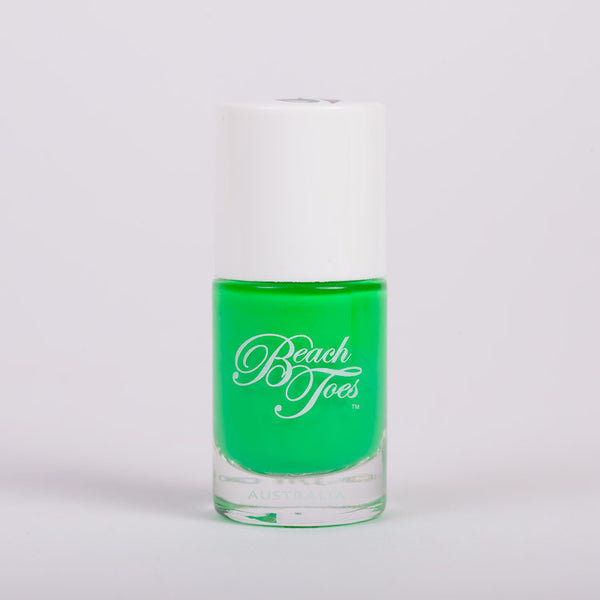 Beach Toes Tahiti Graffiti Fluro Green Nail Polish