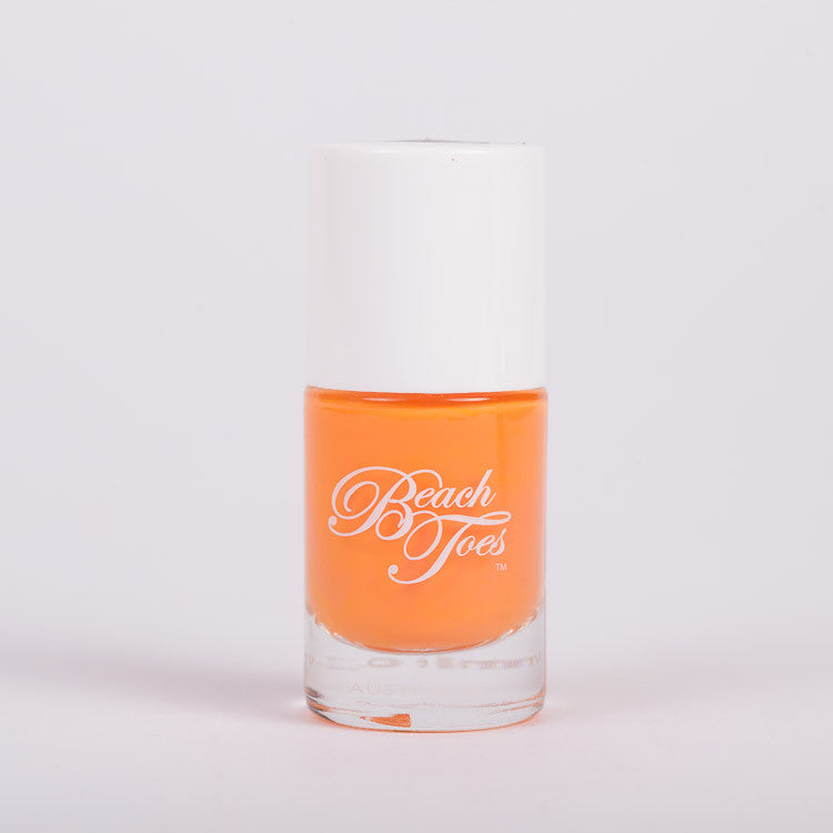 Beach Toes Orange Splash Bright Orange Nail Polish