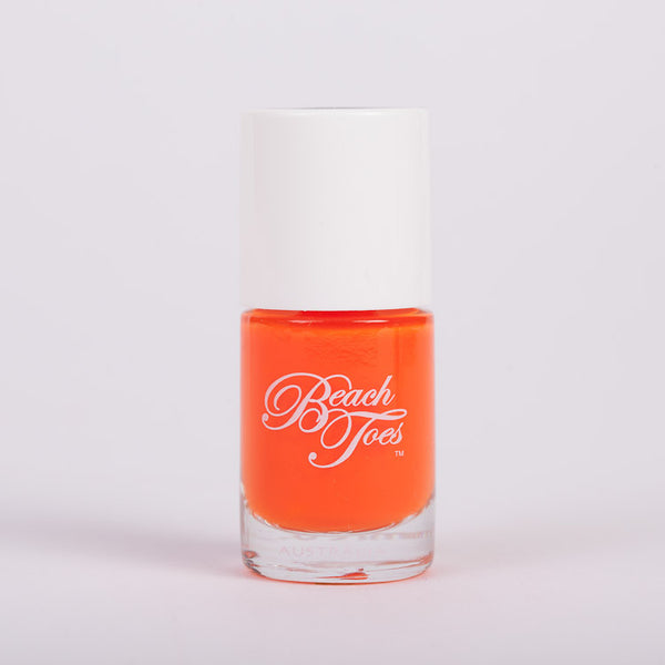 Beach Toes Beachside Bonfire Fluro Orange Nail Polish
