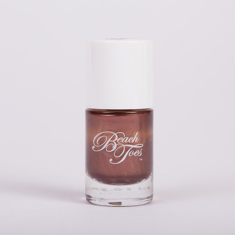 Beach Toes Coconut Shimmer Coconut Shell Brown Shimmer Nail Polish