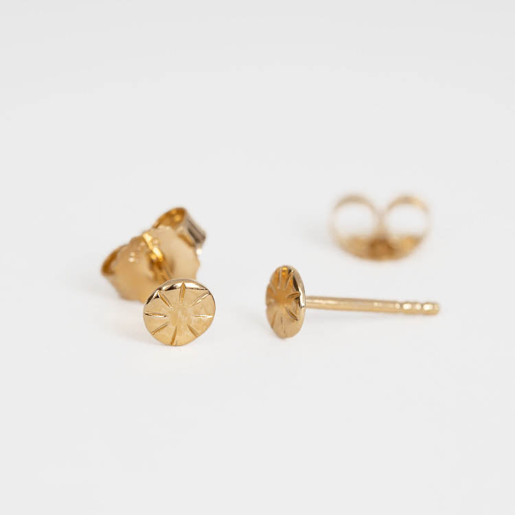 Pernille Corydon Copenhagen Gold Stud Earrings