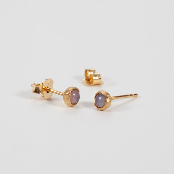 Product shot of Pernille Corydon Aura Rose Gold Plated Stud Earrings